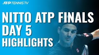 Federer Defeats Djokovic; Berrettini Hands Thiem First Loss | Nitto ATP Finals 2019 Day 5 Highlights