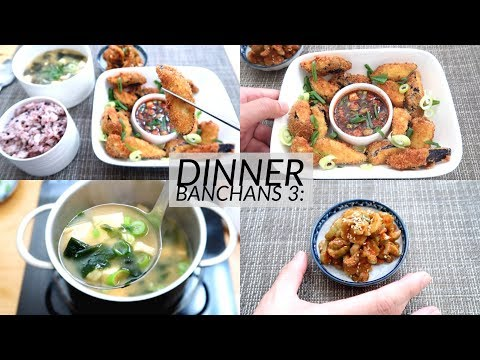 Dinner Banchans 3: Miso Soup, Oiji Pickles, Crispy Eggplant