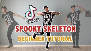 How To Do The Spooky Scary Skeletons Dance (EASY Dance Tutorial) | Tik Tok Dance Tutorials