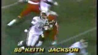 Keith Jackson one-handed catch vs. NU in 1986