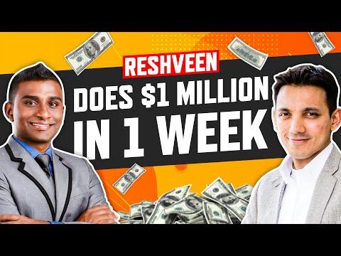 Reshveen Does $1 Million In 1 Week