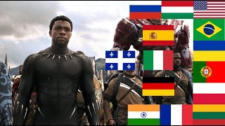 """""""WAKANDA FOREVER"""" in 16 different languages"""