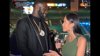 Deontay Wilder reacts to Manny Pacquiao beating Keith Thurman