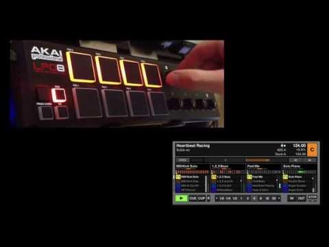 Akai LPD8 Remix Deck Mapping for Traktor Pro 2
