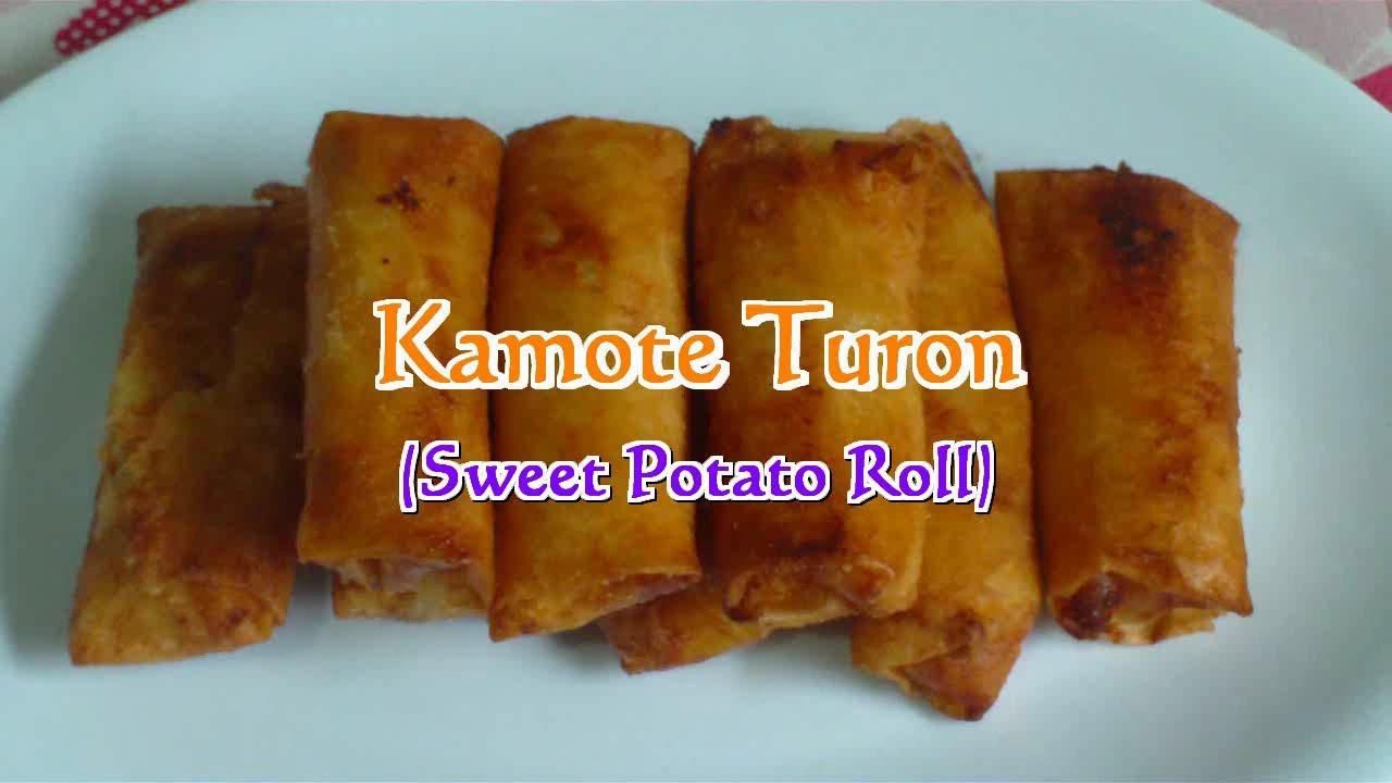 Kamote Turon Sweet Potato Roll Youtube