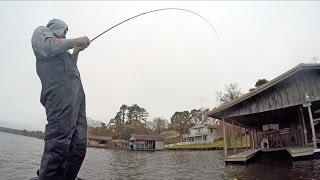 Fishing Flipping Jigs for Winter Bass