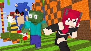 SONIC PARKOUR CHALLENGE : Minecraft Animation Monster School