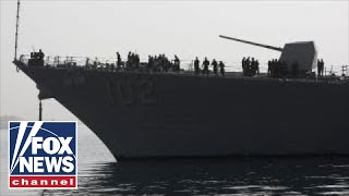 Armada of US warships steaming toward Middle East