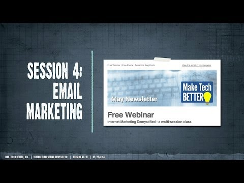 Internet Marketing Demystified 4 - All About Email
