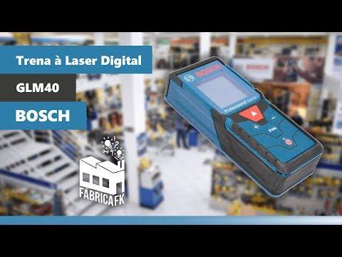 Trena À Laser Digital para Medições 0,15 À 40 M Glm40 Bosch - Vídeo explicativo