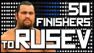 WWE 2K15   50 Finishers to Rusev (PS4)