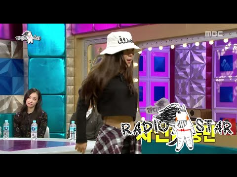 [RADIO STAR] 라디오스타 - Kim Hee-jeong showed hiphop dance 20151014