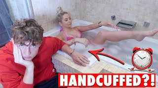 24 HOURS HANDCUFFED to my TEEN BROTHER! *never again..*