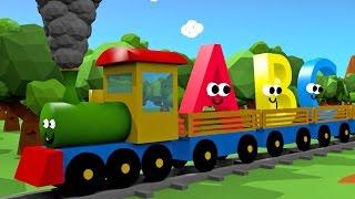 Alphabet for kids train 3d