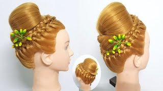 Easy traditional Hairstyles | Bun hairstyles for wedding/party | Hair style girl | Hairstyle 2018