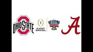 2015 Sugar Bowl, #4 Ohio State vs #1 Alabama (Highlights)