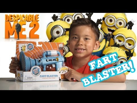 DESPICABLE ME 2 - FART BLASTER!!! Unboxing & Review: Dinner-time surprise!