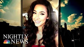 New Surveillance Video Shows Moments Before Model's Mysterious Death | NBC Nightly News