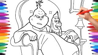Illumination The Grinch Coloring Pages, How to Draw The Grinch for Kids, Dr Seuss The Grinch