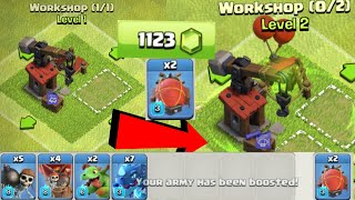 MAX LEVEL BATTLE BLIMP - USING FOR THE FIRST TIME - GEMS SPREE - CLASH OF CLANS