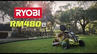 "Video: 38"" Electric Riding Mower 100 AH"