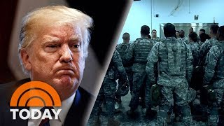 President Donald Trump Signs Order Sending Military To US-Mexico Border | TODAY