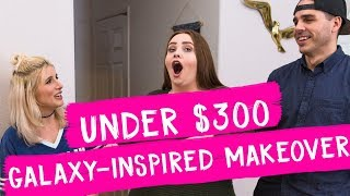 Under $300 Galaxy-Inspired Living Room Makeover | Mr. Kate Decorates on a Budget