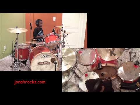 Godsmack - I Stand Alone, 8 year Old Drummer, Jonah Rocks