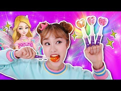 빛나는 사탕?! 시크릿쥬쥬 LED 매직캔디 딸기사탕 먹방 놀이 - 지니