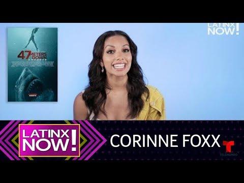 "Corinne Foxx talks about her new movie ""47 Meters Down: Uncaged"" | Latinx Now! | Entretenimiento"