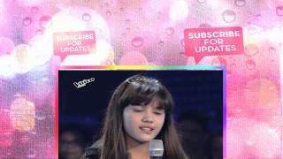 """The Voice Kids Philippines 2015 Blind Audition  """"Rather Be"""" by Atascha"""