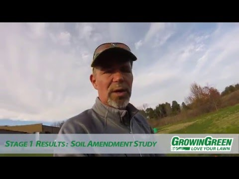 GrowinGreen - Turfgrass Amendment Study Results, Stage 1