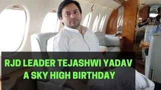 A Politician Son Celebrates Birthday In A Chartered Plane..