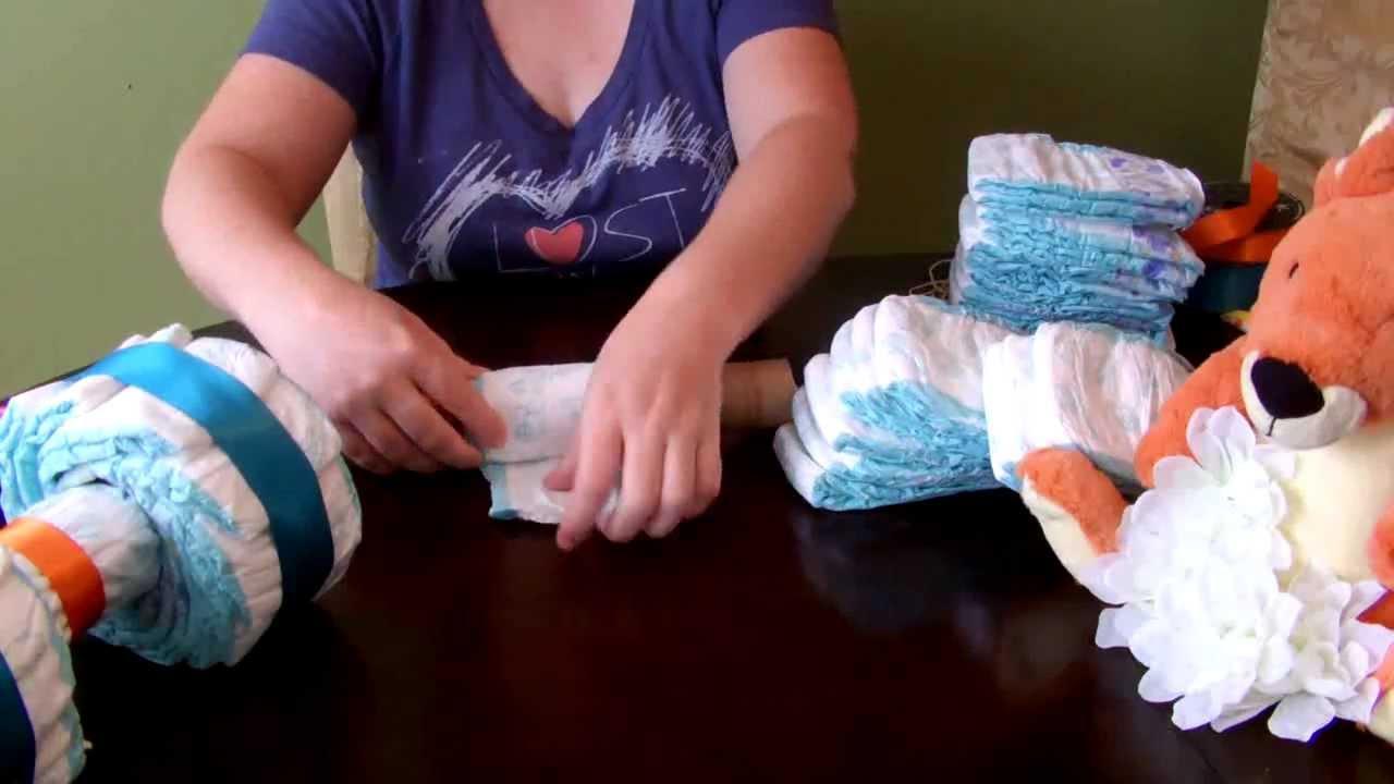 How To Make A  Wheeler Diaper Cake