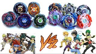 4 SEASONS BLADERS vs GOD BEYBLADE BURST EVOLUTION |TEAM BATTLE OF GENERATIONS:4D METAL vs GOD LAYERS