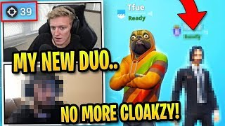 Tfue Plays with *NEW* Team and DOMINATES without Cloak! (5 Wins in a Row)