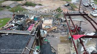 4-25-2019 Ruston, La Drone video of extensive damage, deadly tornado, homes and businesses ruined