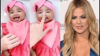 Sweet Girl!!! Khloe Kardashian Giggles With Daughter True In Sweet Video
