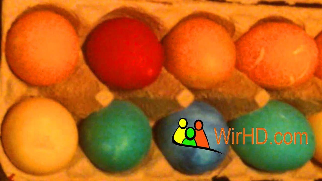 basteln zu ostern eier färben ostereier bemalen eier