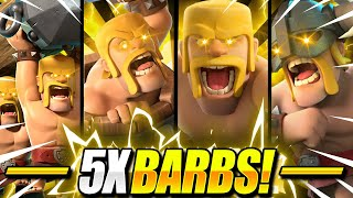 INFINITE SWARM!! New 5X BARBARIAN Deck ACTUALLY WORKS in Clash Royale!
