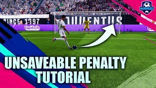 FIFA 19 UNSAVEABLE PENALTY KICK TUTORIAL - HOW TO SCORE PENALTIES EVERYTIME - SECRET TIPS & TRICKS