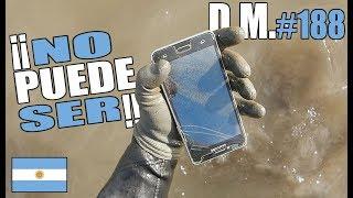 Encuentro TRES TELÉFONOS en el RÍO DE LA PLATA, ARGENTINA tesoros en el río - Detección Metálica 188