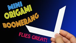 How to Make a Mini Origami Boomerang (Flies Great!)