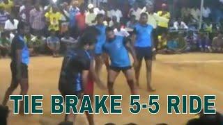 Kabaddi Match Tie Brake 5 5 ride   diamond star p.mettupalayam VS 7lines erode