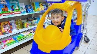 Let's go shopping song for children Kids Shopping in Toy Store