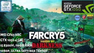 Far Cry 5 Hours of Darkness DLC Gameplay GTX 1050 4GB , 16 GB RAM , i5 8300h   1080p   MSI GF63