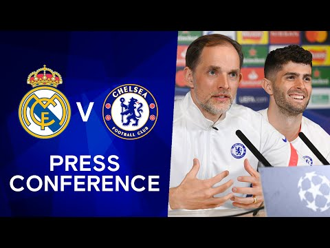 Thomas Tuchel & Christian Pulisic Press Conference: Real Madrid v Chelsea | Champions League