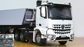UNBOXING RC TRUCK MB MERCEDES-BENZ AROCS 3363 WITH CARSON TRAILER!! *FIRST TEST