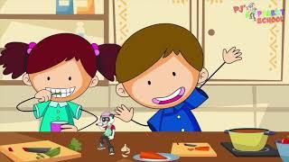PJ Panda - The Vegetable Song Music Video - Eating Vegetable Song For Kids!!!