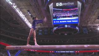 Gabby Douglas' routines from the 2012 Olympic Gymnastics trials